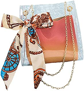 TOOGOO Ms.Jelly Bag With Ribbon Elegant Transparent Bag Lady Candy Color Girl Summer Transparent Bag Mobile Phone And Wallet Blue