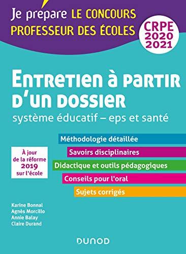 Entretien à partir d'un dossier - Système éducatif - EPS et Santé - CRPE 2020-2021 (2020-2021)