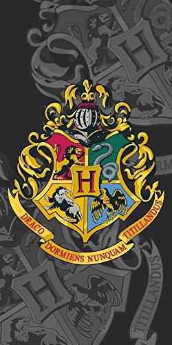 Jerry Fabrics Harry Potter Hogwarts Escudo Toalla de Playa Toalla Ducha Baño 70 X 140CM
