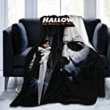 Wakaltk Michael Myers Halloween Throw Blanket Microfiber Lightweight Fluffy Cozy Blanket for Couch Sofa Bed 50' X40