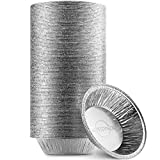 MontoPack Disposable 5' Aluminum Foil Pie/Tart Pans (100 Pack) | 5 Inch Round Cake Pan for Baking Personal Mini Pies, Homemade Cakes & Quiche | Oven Safe Foil Tins Easily Stack & Store Freeze & Reheat