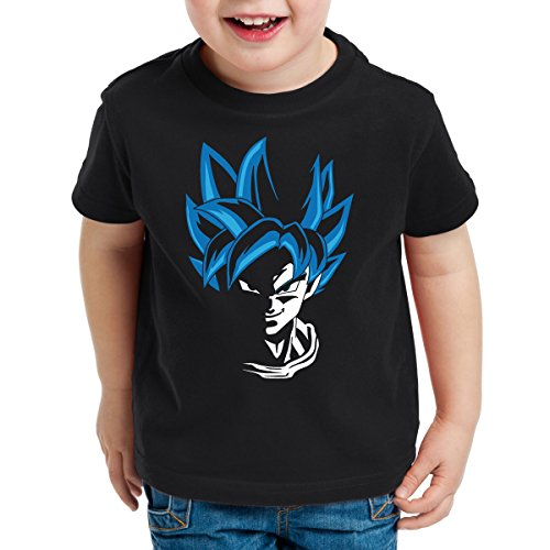 style3 Super Goku Blue God Modus Kinder T-Shirt, Größe:104
