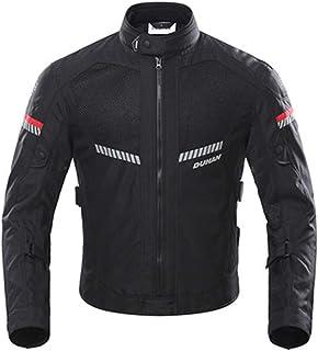 Chaqueta de Motocicleta de Moto para Hombre, Respirable, Armadura Protección, reflexión de alto brillo, para verano primavera otoño