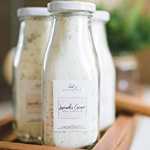 Lavender Cream Bath Milk Soak. All Local Ingredients In A Glass Bottle And Made In The USA.