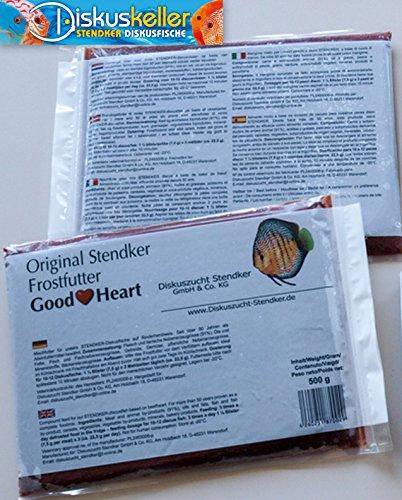Stendker Frostfutter Sparpaket 10 x GoodHeart Diskusfutter/Rinderherz 500g Flachtafel
