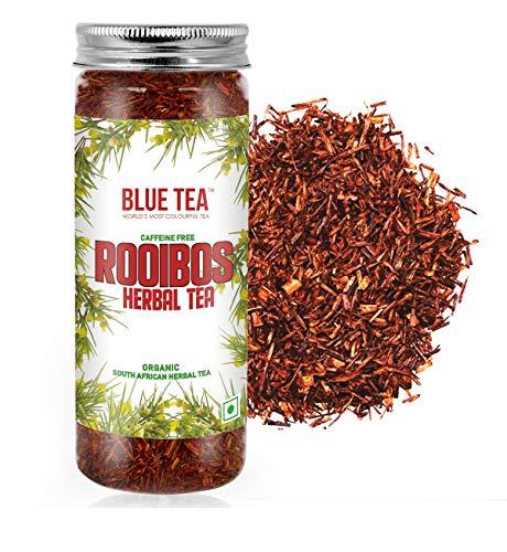 BLUE TEA - Organic Rooibos Natural Herbal Tea |Caffeine Free Tea Rich in Antioxidants | 50 Grams - 75 Cups |