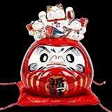 Glover 9 Pulgadas Rojo Fuwang Damo Hucha Restaurante de Sushi Sala de Estar decoración artesanías de cerámica