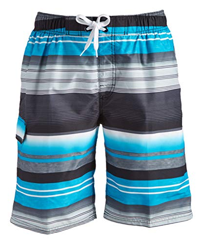 Kanu Surf Men's Miles Swim Trunks (Regular & Extended Sizes), Victor Black, Medium