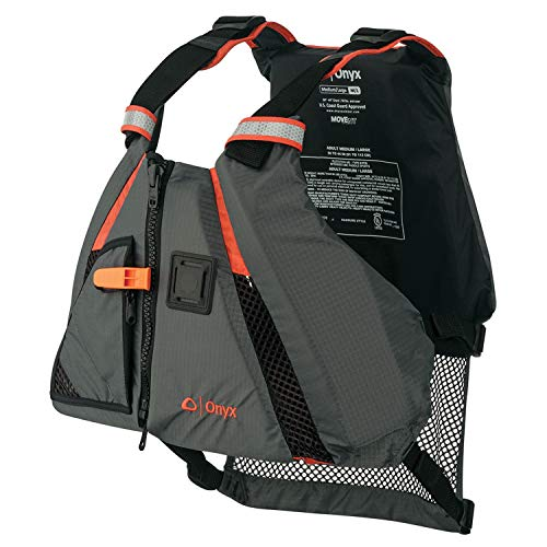 ONYX MoveVent Dynamic Paddle Sports Life Vest, Orange, Medium/Large