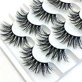 Luxury Makeup 5Pair 3D False Lashes Fluffy Strip Eyelashes Long Natural Party