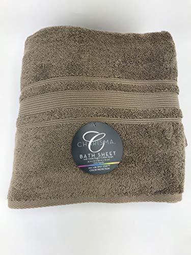 Charisma Bath Sheet Taupe. 100% Hygro Cotton Loops