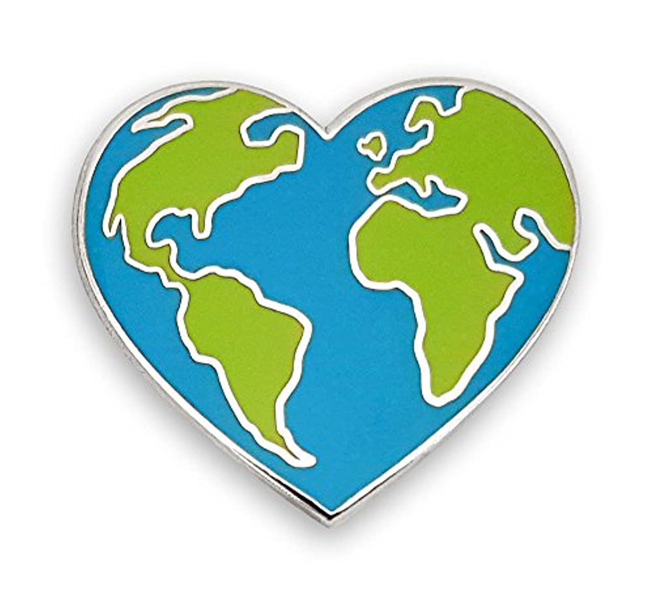 Pinsanity Earth Heart Enamel Lapel Pin