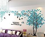 DIY 3D Énorme Arbre de couple Stickers Muraux Cristal Acrylique Décorations murales...