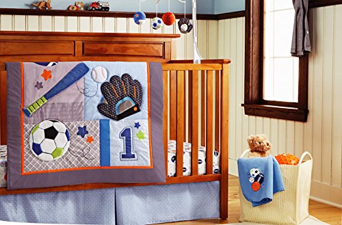 Baby boy 10 Pieces Baby Boy Sport Crib Bedding Set Baby Boy Sports Bedding