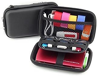 External Hard Drive Carry Case USB Flash Drive Case - DDQ Universal Electronics Accessories Travel Organizer Case Bag - Black