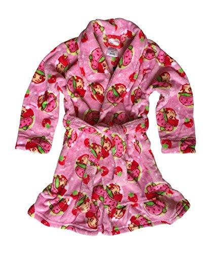Komar Kids Strawberry Shortcake Girls Pink Bath Robe (3T)