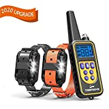 TIMPROVE 330 Yards Range Remote Dog Training Collar, 2020 Version Rechargeable and IPX7
