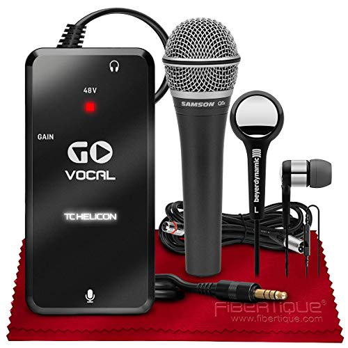 TC-Helicon GO VOCAL Microphone Preamp for Mobile Devices + Beyerdynamic