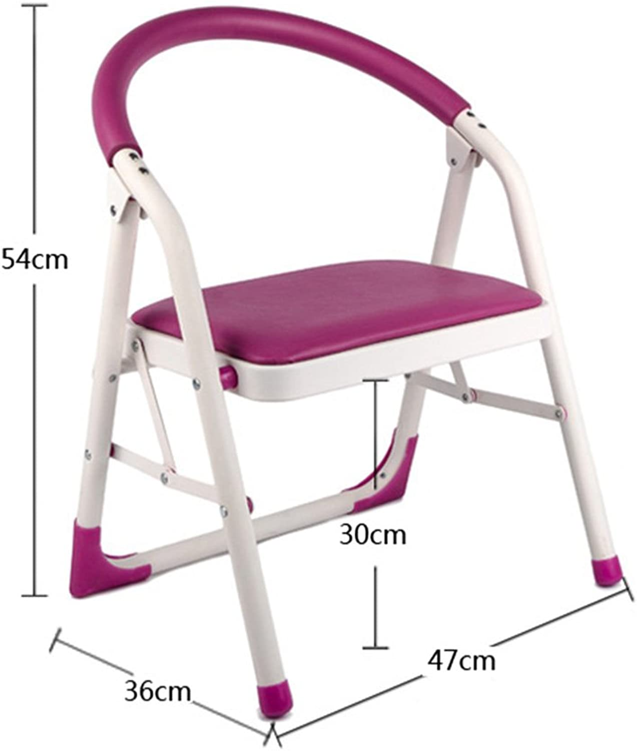 JIEJIEHAO Step stool Home Step stool Single layer Ladder with handrail Multifunction Folding Ascend chair (color   PINK)
