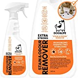 Dog Odour & Stain Remover | 2-IN-1 Urine Stain & Smell Eliminator | Deodorise, Disinfect & Sterilise | Multi Surface Stain and Odour Eliminator For Dogs | Natural Enzymatic Stain Remover