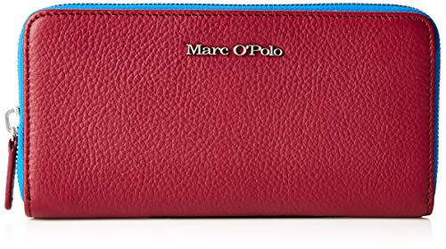 Marc O'Polo Damen Emilie Geldbörse, Rot (Berry Red), 2.5x9.8000000000000007x19.3 cm