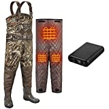 TIDEWE Breathable Hunting Waders Heated with Removable Insulated Liner & Battery Pack