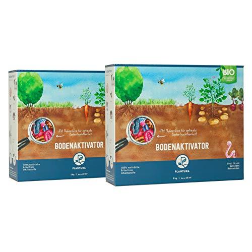 Plantura Bio Bodenaktivator mit 3 Monate Langzeit-Wirkung, 6 kg, staubarmes Granulat, unbedenklich für Haustiere, tierfreundlich, Langzeitdünger