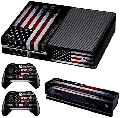 UUShop Protective Vinyl Skin Decal Cover for Microsoft Xbox One American Flag Upgraded product image