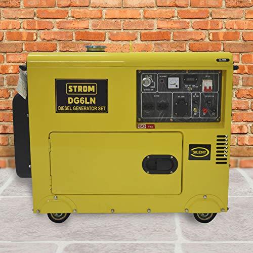 Gerador de Energia a Diesel 5KW, Silencioso DG6LN Monofásico 110/220v – STROM