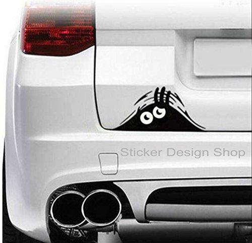 Monster Augen Schaut Durch Kofferraum Autoaufkleber Stiker Tuning Heckscheibe Aufkleber Auto Car Tattoo (20 x 8 cm)
