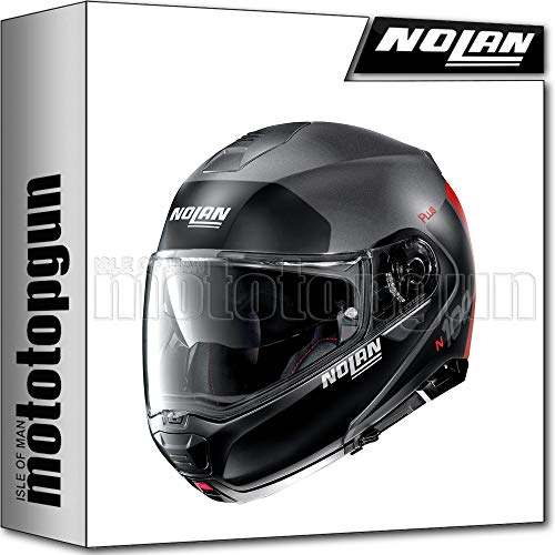 NOLAN CASCO MOTO MODULARE N100-5 PLUS DISTINCTIVE FLAT LAVA GRIGIO 024 TG. XXL