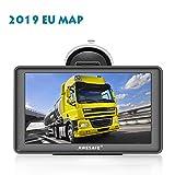 GPS Voiture Navigation 7 Pouces HD écran Tactile Multi-Langue Voice Play Pré-installé 48 Pays en Europe Carte Mise à Jour Gratuite Compatible avec Les Voitures et Les camions