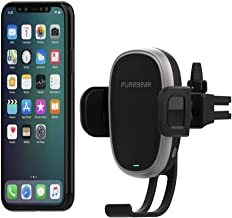PureGear AutoGrip 10W Wireless Car Charger for Qi Enabled Phone, Self Gripping System, Vent Mount, with QC 3.0 Car Charger, 3FT USB C Charging Cable, Black (Upgraded Version)