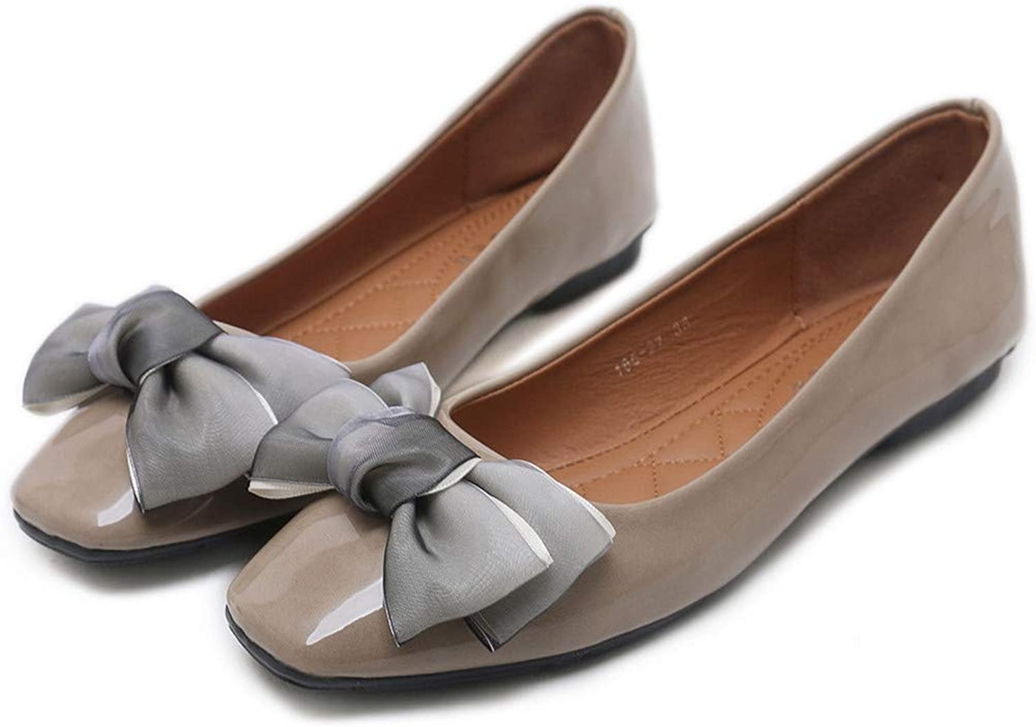 Kyle Walsh Pa Women Elegant Flats shoes Patent Leather Bow Knot Ladies Soft Trendy Moccasins