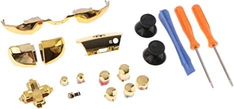 Homyl 18-in-1 Controller Buttons Replacement Kit Full Button Set for Microsoft Xbox One Elite Parts, Golden
