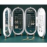 Joyero organizador almacenamiento pulseras y collares, soporte exhibición plegable en forma de pantalla metal para decoración del hogar, regalo a prueba de polvo para familiares amigos colegas