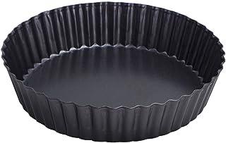 webake Plat a Tarte Ø 24cm Plus Moule a Tarte en Forme de gâteau aux Fruits, avec Bordure inférieure relevable, revêtement...