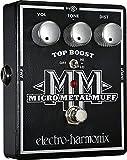 electro-harmonix Micro Metal Muff - Pedal de distorsión para guitarra, color plateado
