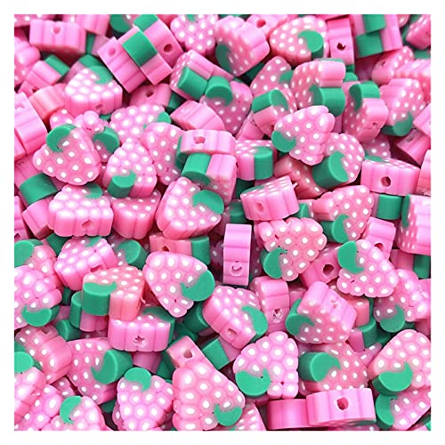 BOSAIYA Zz0 30 unids/Lote 10 mm Beads de Frutas Polímero Clay Beads Color Mezclado Polmer Polmer Spacer Beads para joyería Fabricación de Bricolaje Collar de Pulsera Tl519 (Color : 12)