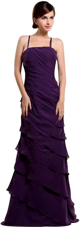 Dearta Women's Sheath Spaghetti Straps Sleeveless FloorLength Prom Dresses
