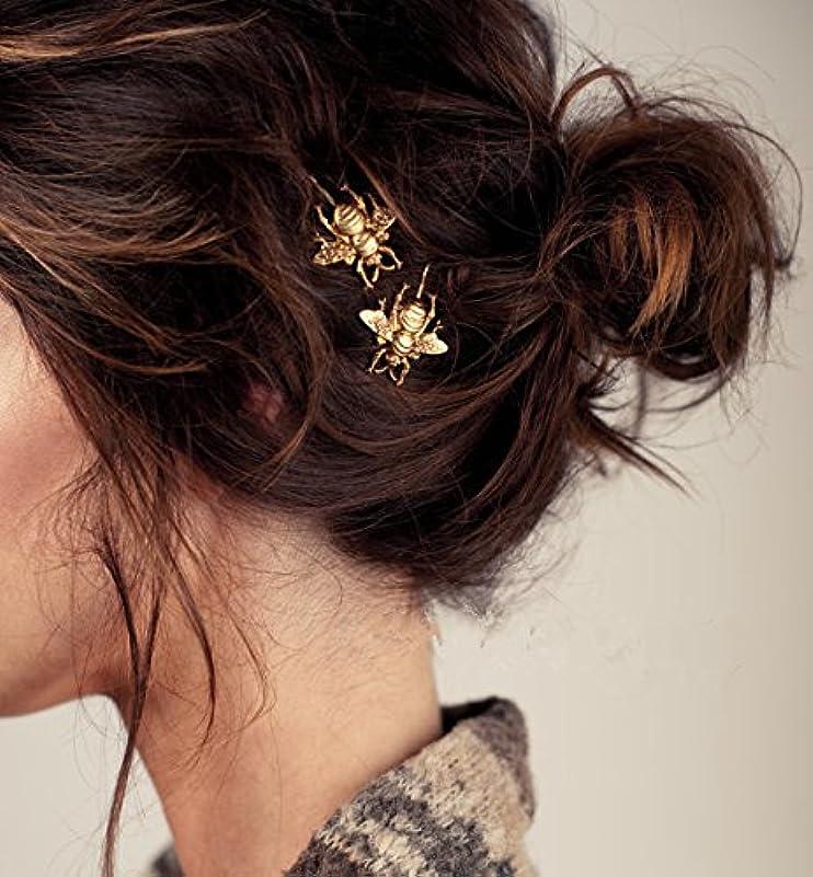 電話に出る放射するコテージHuaQingPiJu-JP 1Pc DIYの魔法の髪の女性の女の子ヘアピンの髪のヘアクリップヘアスタイリングツールアクセサリー(ゴールド)