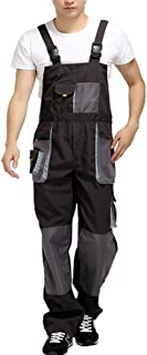 Aolamegs Men's Overalls Coveralls Used for Hiphop and Protective Work