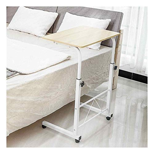 GUOQING Laptop Desk Foldable Computer Desk Table Adjustable Portable Laptop Desk Rolling Laptop Table Bedside Sofa Standing Home Office Furniture portable overbed chair table (Color : White)