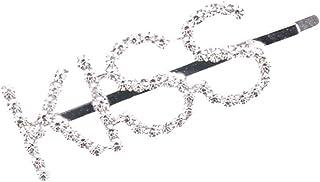 display08 - Horquilla para el Pelo para Mujer, diseño de Letras de Diamantes de imitación