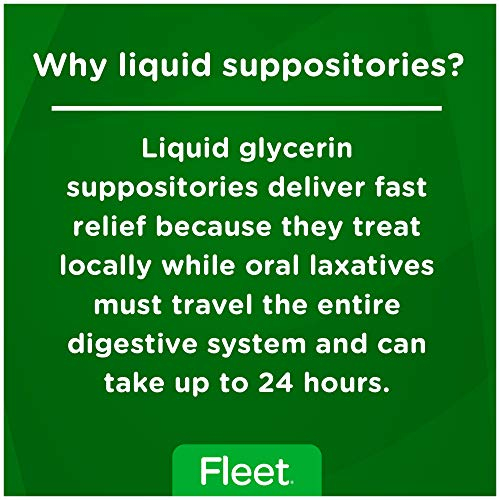 Fleet Liquid Glycerin Suppositories for Adult Constipation, 4 Suppositories, Pack of 3