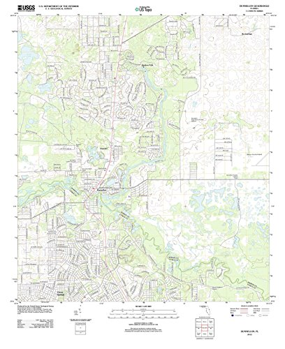 Florida Maps - 2012 Dunnellon, FL - USGS Historical Topographic Wall Art : 24in x 30in