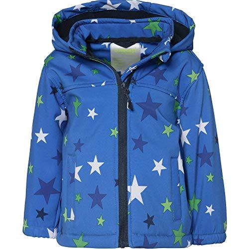 Outburst - Jungen Softshelljacke Regenjacke Winddicht und Wasserdicht 10.000mm Wassersäule, blau,Sterne 8476008 - Größe 80