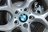 BizTech® Juego de 4 Pegatinas de Aluminio Azules para Llantas de 68 mm B M W de aleación, tapacubos centrales Serie 1, 3, 4, 5, 6, 7, M3, M5, M6, X2, X4, X6, Z3, Z4