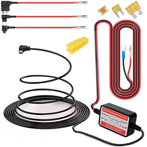 Gebildet Dash CAM Hardwire Kit Mini USB 12V-24V a 5V, Protección de Bajo Voltaje ACN/ACS/ACU Agregar un Circuito Portafusibles Compatible GPS, Detector de Radar Todos los Demás Dispositivos