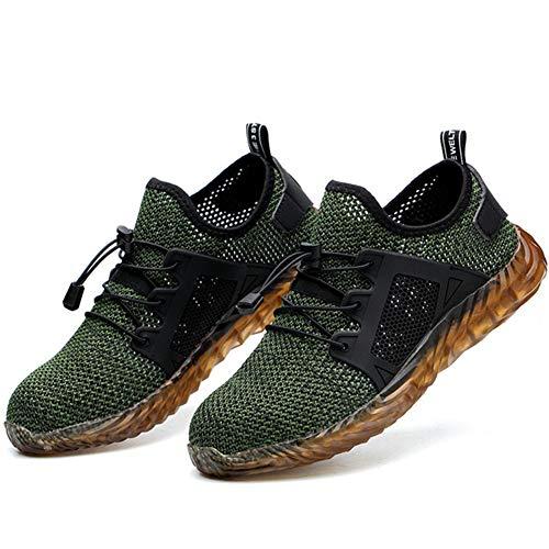 Dragon Honor Immortal Shoes 2019 Chic Work Shoes,Zapatillas de Trabajo para Hombre Transpirables a Prueba de pinchazos